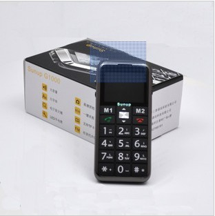 Unlocked CBM65 GSM Quad Band Dual SIM Card Standby Torch Senior Mobile Phone